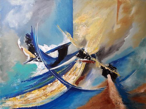 U.v.Sohns, unbekannte Flugobjekte, Fantasie, Abstraktes, Abstrakte Kunst, Abstrakter Expressionismus