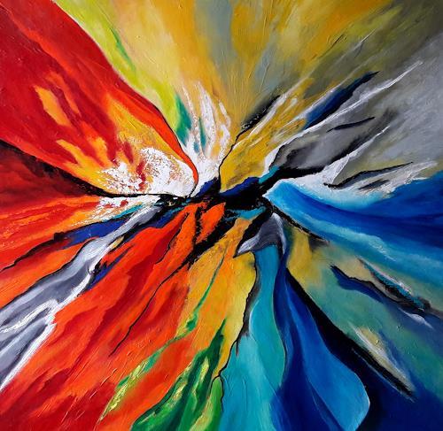 U.v.Sohns, Metamorphose der Farben, Abstraktes, Dekoratives, Abstrakte Kunst