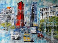 U.v.Sohns-Diverse-Verkehr-Natur-Luft-Moderne-expressiver-Realismus