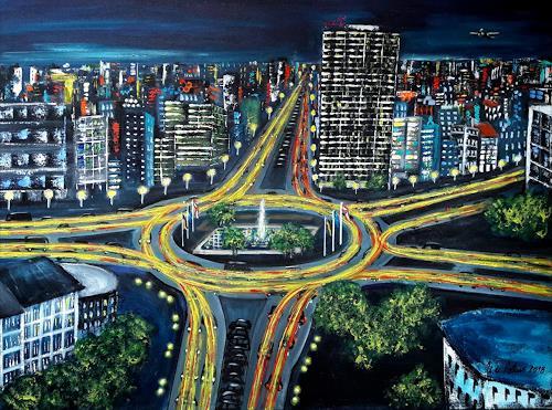 U.v.Sohns, Traffic-lights, Verkehr: Auto, Situationen, expressiver Realismus