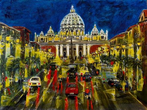 U.v.Sohns, Roma aus der Serie, Diverse Bauten, Diverse Verkehr, expressiver Realismus