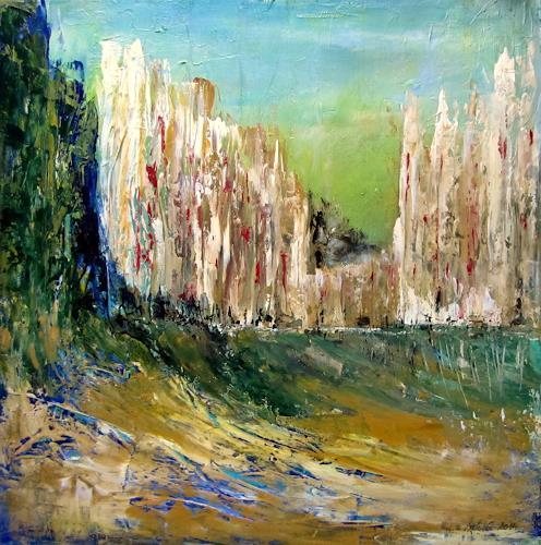 U.v.Sohns, noch o.T., Diverse Landschaften, Fantasie, Abstrakte Kunst, Abstrakter Expressionismus