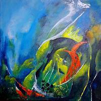 U.v.Sohns-Landschaft-See-Meer-Natur-Wasser-Moderne-Abstrakte-Kunst