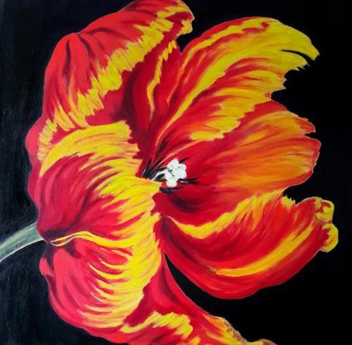 U.v.Sohns, Papageientulpe, Pflanzen: Bäume, Dekoratives, Realismus