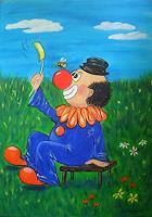 U.v.Sohns-Humor-Zirkus-Clown-Neuzeit-Realismus