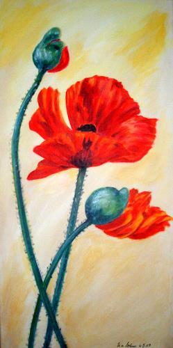 U.v.Sohns, Moh 4-II-09, Pflanzen: Blumen, Dekoratives, Gegenwartskunst