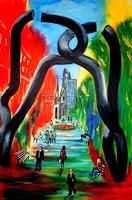 U.v.Sohns-Abstraktes-Diverse-Bauten-Moderne-Abstrakte-Kunst