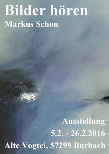 Markus Schon, Ausstellungsplakat, Abstraktes, Abstrakter Expressionismus