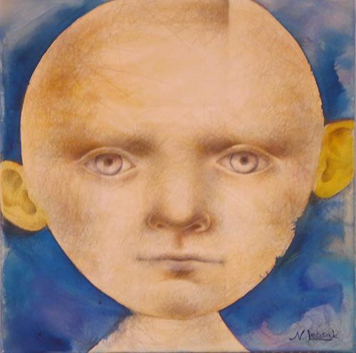 Natalja Lebsak, Kopf, Menschen: Gesichter, Menschen: Porträt, Andere, Abstrakter Expressionismus