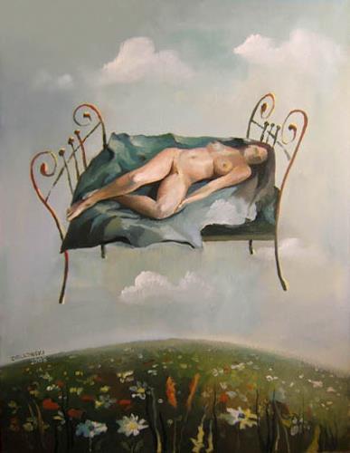 Gregor Ziolkowski, FOUR SEASONS - SUMMER, Landschaft: Sommer, Akt/Erotik: Akt Frau, Surrealismus
