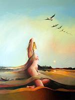 Gregor-Ziolkowski-Landschaft-Herbst-Akt-Erotik-Akt-Frau-Moderne-Avantgarde-Surrealismus