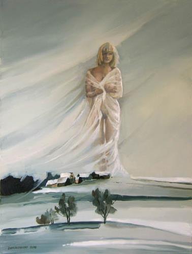 Gregor Ziolkowski, FOUR SEASONS - WINTER, Landschaft: Winter, Akt/Erotik: Akt Frau, Surrealismus