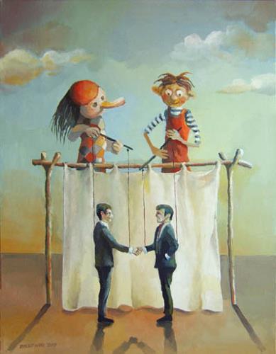 Gregor Ziolkowski, THE PUPPETS, Gesellschaft, Zirkus: Clown, Symbolismus