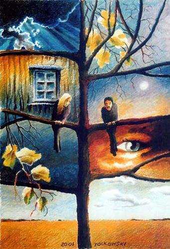 Gregor Ziolkowski, OBLIVION - TREE, Fantasie, Gefühle: Geborgenheit, Surrealismus