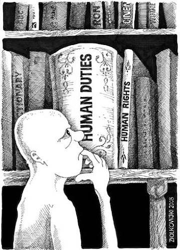 Gregor Ziolkowski, DUTIES AND RIGHTS, Humor, Gesellschaft, Andere, Abstrakter Expressionismus