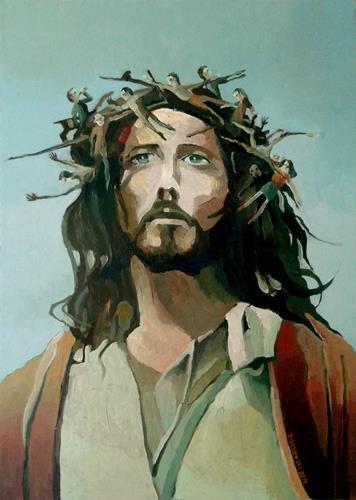 Gregor Ziolkowski, JESUS, Menschen: Mann, Religion, Impressionismus