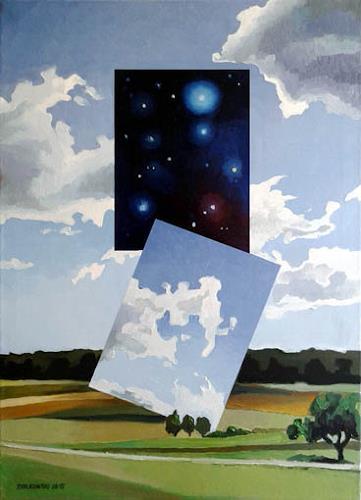 Gregor Ziolkowski, DIMENSIONEN 3, Landschaft, Weltraum, Surrealismus