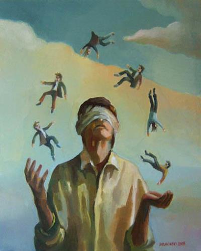 Gregor Ziolkowski, THE JUGGLER, Menschen, Zirkus, Surrealismus, Abstrakter Expressionismus