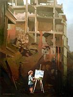 Gregor-Ziolkowski-Landschaft-Menschen-Kinder-Gegenwartskunst-Postsurrealismus
