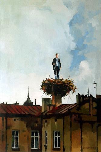 Gregor Ziolkowski, NEST, Menschen, Landschaft, Surrealismus, Abstrakter Expressionismus