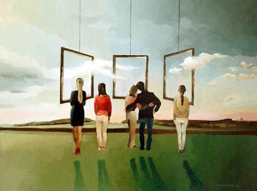 Gregor Ziolkowski, VERNISSAGE, Menschen, Natur, Surrealismus, Abstrakter Expressionismus