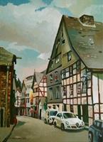 Gregor-Ziolkowski-Diverse-Landschaften-Bauten-Haus-Moderne-Impressionismus