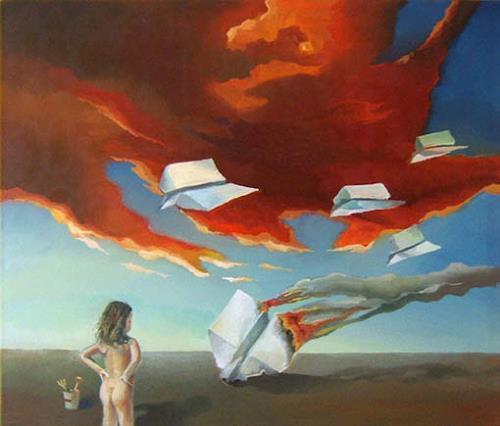 Gregor Ziolkowski, DANGEROUS GAMES, Krieg, Menschen: Kinder, Surrealismus