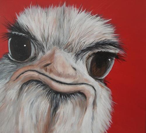 Andrea Bräuning, verschnupft, Diverse Tiere, Realismus, Abstrakter Expressionismus