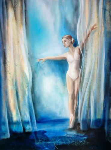 Andrea Bräuning, blue carpet, Menschen: Frau, Realismus