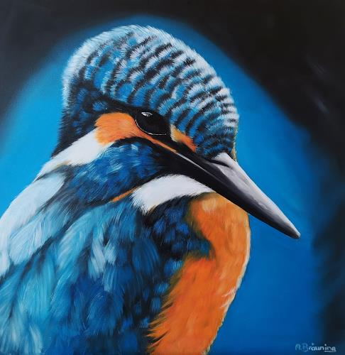 Andrea Bräuning, Eisvogel, Tiere, Realismus, Expressionismus
