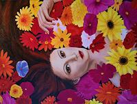 Andrea-Braeuning-Menschen-Frau-Pflanzen-Blumen-Neuzeit-Realismus