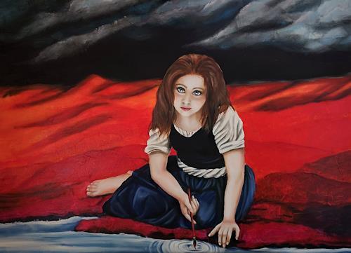 Andrea Bräuning, solveig, Menschen, Postsurrealismus, Abstrakter Expressionismus