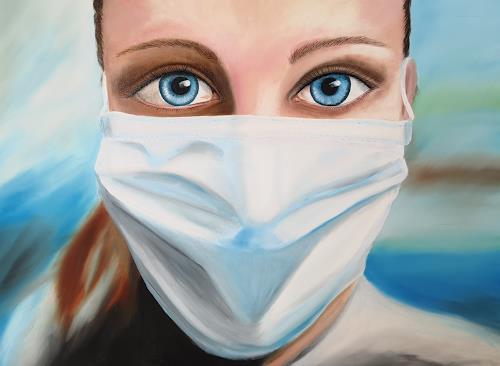 Andrea Bräuning, Angst und Hoffnung, Gefühle, Realismus, Abstrakter Expressionismus