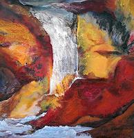 Nacka-Landschaft-Sommer-Abstraktes-Gegenwartskunst-Gegenwartskunst