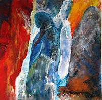 Nacka-Abstraktes-Menschen-Moderne-Abstrakte-Kunst-Action-Painting