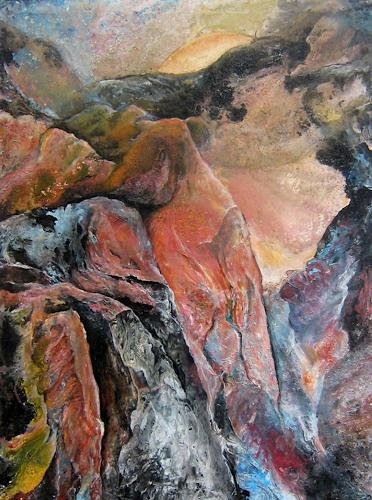 Nacka, Alpe, Landschaft, Natur: Erde, Action Painting, Expressionismus