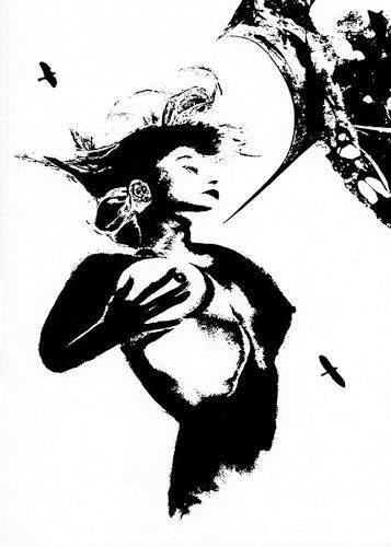 Ron Rodec, Psychografik, Abstraktes, Akt/Erotik: Akt Frau, Andere, Abstrakter Expressionismus