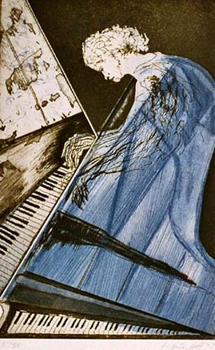 Frieder Hülshoff, Piano, Musik: Musiker, Gegenwartskunst, Abstrakter Expressionismus
