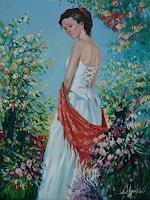 S. Ignatenko, The florist in a red kerchief