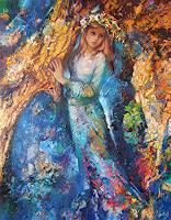 Sergey-Ignatenko-Menschen-Frau-Maerchen-Moderne-Impressionismus-Neo-Impressionismus