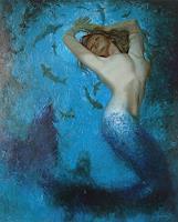 Sergey-Ignatenko-Menschen-Frau-Natur-Wasser-Moderne-Impressionismus-Neo-Impressionismus