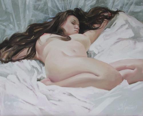 Sergey Ignatenko, Flying in dream, Akt/Erotik: Akt Frau, Menschen: Frau