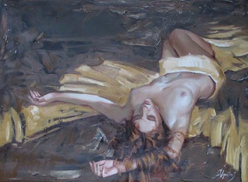 Sergey Ignatenko, Night is coming, Akt/Erotik: Akt Frau, Menschen: Frau, Expressionismus