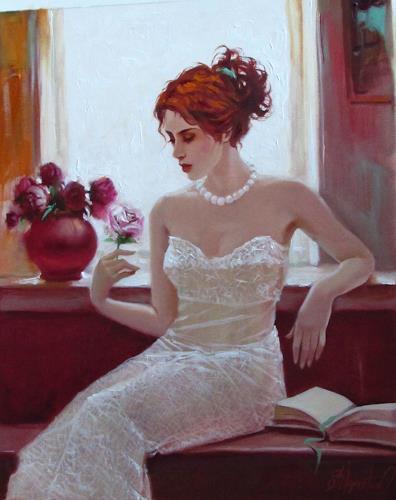 Sergey Ignatenko, White rose, Menschen: Frau, Gefühle: Liebe