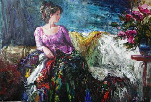 Sergey Ignatenko, Flower fragrance, Dekoratives, Menschen: Frau, Postimpressionismus