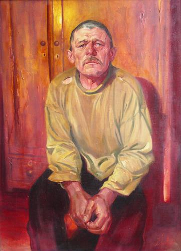 Sergey Ignatenko, Inhabitant of Chernobyl zone, Menschen: Mann, Menschen: Porträt, Abstrakter Expressionismus