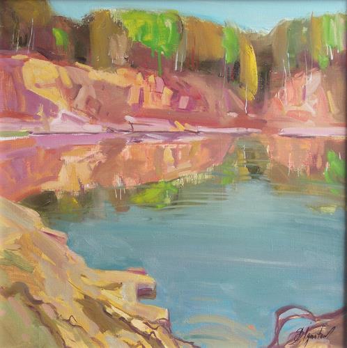 Sergey Ignatenko, The Quarry, Landschaft: See/Meer, Natur: Wasser, Expressionismus