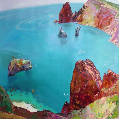 Sergey Ignatenko, Cape Fiolent, Landschaft: See/Meer, Natur: Wasser, Expressionismus