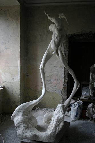 Simon Schade, Schwebende, Menschen: Frau, Gesellschaft, Gegenwartskunst, Abstrakter Expressionismus