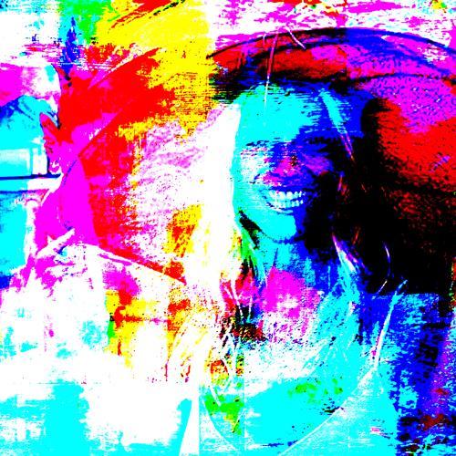 Lee Eggstein, Frau mit Hut, Menschen: Frau, Abstraktes, Abstrakter Expressionismus